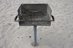 Beach Barbecue public grill Royalty Free Stock Image