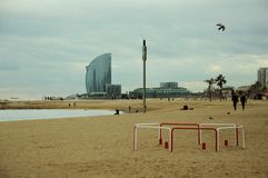 Beach in Barcelona Stock Images