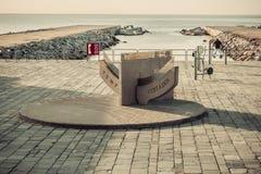 Beach Barcelona. Catalonia, Spain. Temp vertader Beach Barcelona. Catalonia, Spain. Vintage retro style stock photos