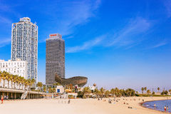 Beach in Barcelona Royalty Free Stock Image