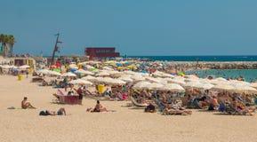 Beach in Barcelona Royalty Free Stock Photos