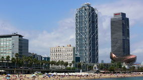 Beach of Barcelona stock footage
