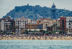 Beach in Barcelona Royalty Free Stock Photography