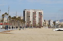 Beach at Barcelona. Spain Stock Photos