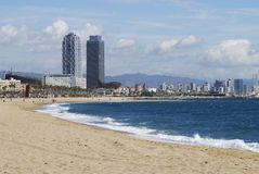 Beach at Barcelona. Spain Stock Image