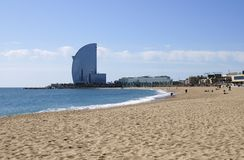 Beach at Barcelona. Spain Royalty Free Stock Photo
