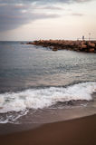 Beach of Barceloneta. Barcelona in Spain Stock Photos