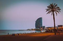 Beach of Barceloneta. Barcelona in Spain Royalty Free Stock Photography