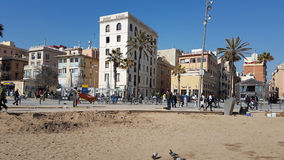 Barcelona Beach Royalty Free Stock Photography
