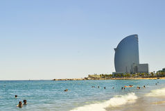 The beach Barceloneta Royalty Free Stock Photography