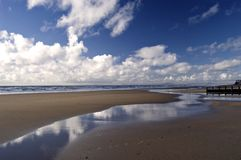 Beach in Barmouth. Wales stock image