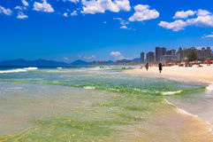 Beach in Barra da Tijuca, Rio de Janeiro royalty free stock images