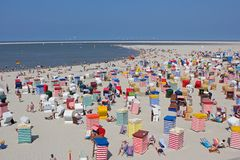 Beach bars in Borkum, Germany Royalty Free Stock Photo