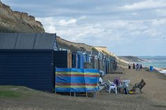 The Beach at Barton-on-Sea. Hampshire Royalty Free Stock Images