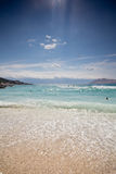 Beach at Baska Stock Images