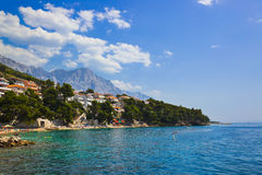 Beach at Baska Voda, Croatia Royalty Free Stock Photography
