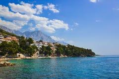 Beach at Baska Voda, Croatia Royalty Free Stock Photography