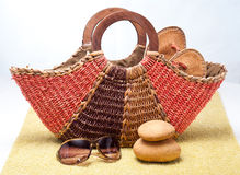 Beach Basket Royalty Free Stock Image