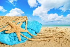 Beach Basket Stock Image