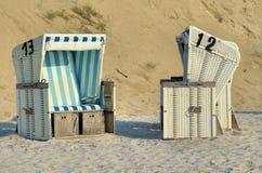 Beach baskets Stock Photos