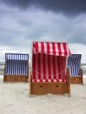 Beach baskets. Royalty Free Stock Image