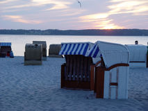 Free Beach Baskets In The Evening Stock Photo - 16360