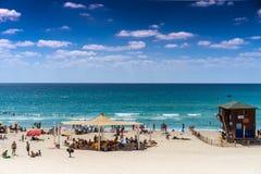 Beach, Bat Yam coast, Israel Stock Photos