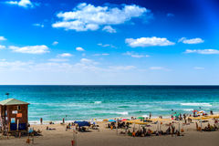 Beach, Bat Yam coast, Israel Royalty Free Stock Photo