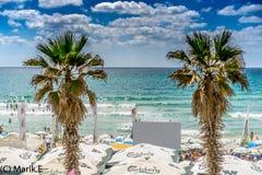 Beach, Bat Yam coast, Israel Royalty Free Stock Photography