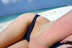 Beach Bather Stock Image