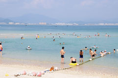 Beach bathing place in Sanya Royalty Free Stock Photos