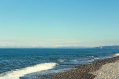 The Beach in Batumi Stock Image