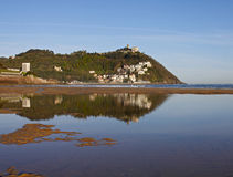 Beach and bay of La Concha, Donostia Royalty Free Stock Images