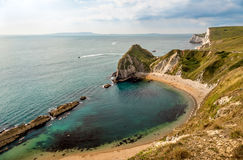 Beach, Bay. This bay is one of two situated a little further along the coast from the famous  Durdle Door, found on beautiful Jurassic coast, in the South of Stock Photos