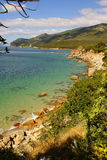 Beach bay in Portinho da Arrabida, Portugal Royalty Free Stock Images