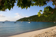 Beach and Bay in St Thomas Royalty Free Stock Images