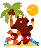 Beach Bear Stock Photo