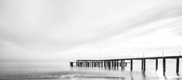Beach, Beautiful, Black-and-white Royalty Free Stock Image