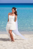 beach beautiful bride Στοκ Εικόνες