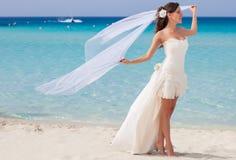 beach beautiful bride Στοκ Φωτογραφία