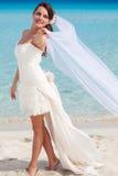 beach beautiful bride Στοκ Φωτογραφίες