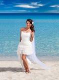 beach beautiful bride Στοκ φωτογραφίες με δικαίωμα ελεύθερης χρήσης