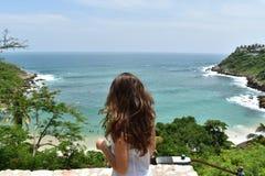 Beach, Beautiful, Girl royalty free stock photos