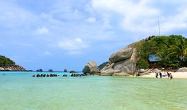 Beach. The beautiful beach Koh-Tao in south of Thailand Royalty Free Stock Photography