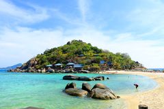 Thailand. The beautiful beach Koh-Tao in south of Thailand Stock Photos