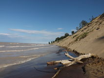 Beach. Beautiful beach on Lake Erie that I camp at in Port Burwell, Ontario, Canada Royalty Free Stock Images