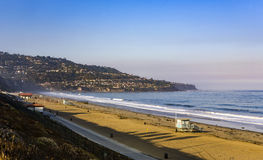 Beach in beautiful morning light at Redondo beach Royalty Free Stock Image