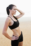 beach beautiful portrait woman young Στοκ Εικόνες