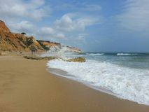 Beach. Beautiful beach in Portugal Royalty Free Stock Photo