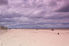 Beach with beautiful sky, St Andrews, Scotland Stock Photo